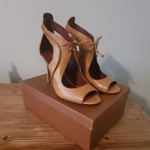 *Never Worn* Coach Open Toe Heeled Leather Sandals